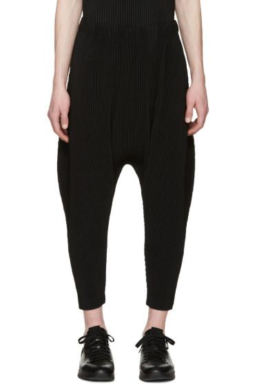 Homme Plissé Issey Miyake - Black Pleated Sarouel Trousers