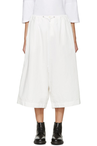 Y's - White Drawstring Trousers