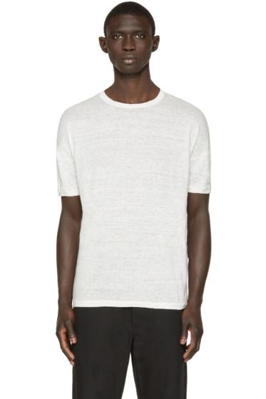 Isabel Benenato - Off-White Linen T-Shirt
