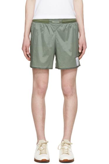 "Satisfy - Green Short Distance 5"" Shorts"
