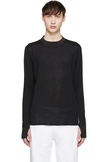 Satisfy - Black Long Wool T-Shirt