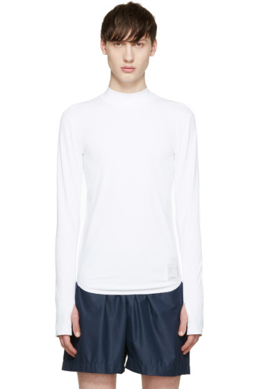 Satisfy - White Long Compression T-Shirt