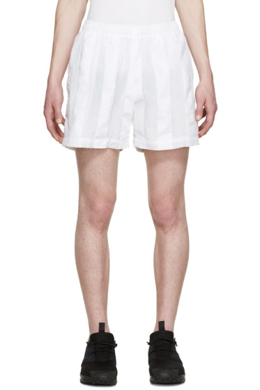 Cottweiler - White Striped Robe Shorts