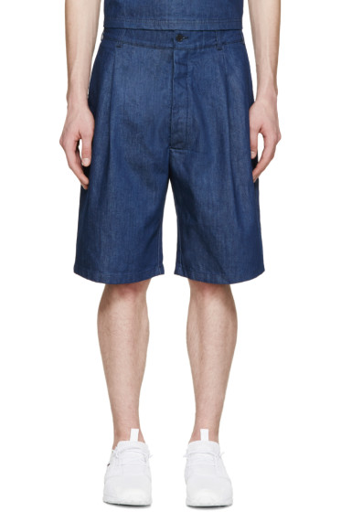 Sunnei - Indigo Denim Shorts