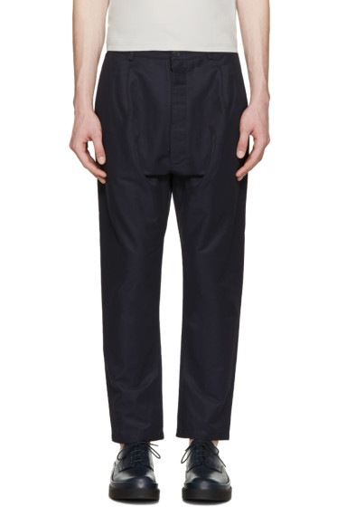 Sunnei - Navy Tapered Trousers