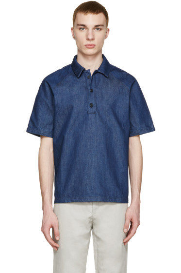 Sunnei - Indigo Denim Polo