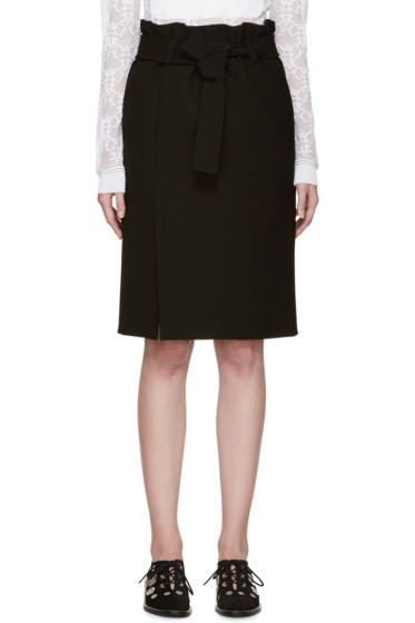 Emilio Pucci - Black Belted Skirt