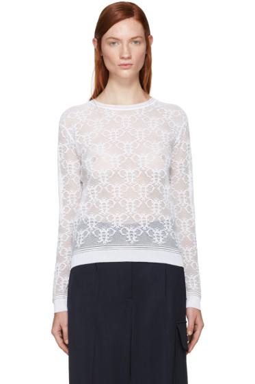 Emilio Pucci - White Logo Lace Shirt