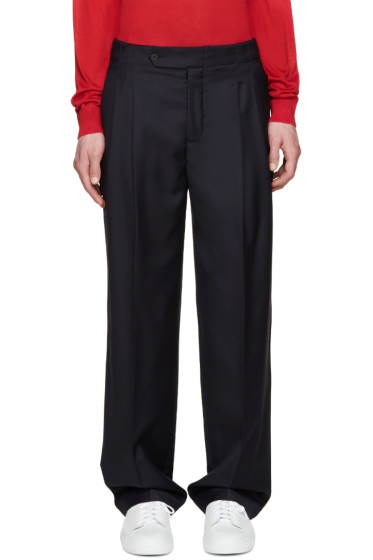 Éditions M.R  - Navy High-Rise Trousers
