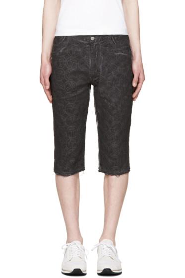 Telfar - Black Embroidered Simplex Shorts