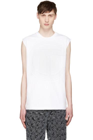 Telfar - White Cut Logo T-Shirt