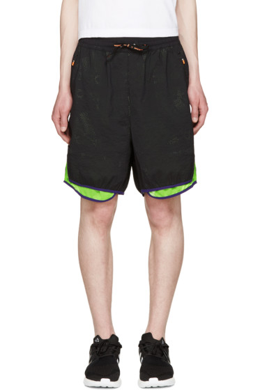 Adidas x Kolor - Black Mesh Layered Shorts