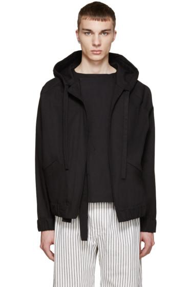 Phoebe English - Black Canvas Bomber Jacket