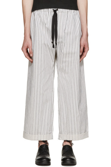 Phoebe English - Black & White Wide-Leg Trousers