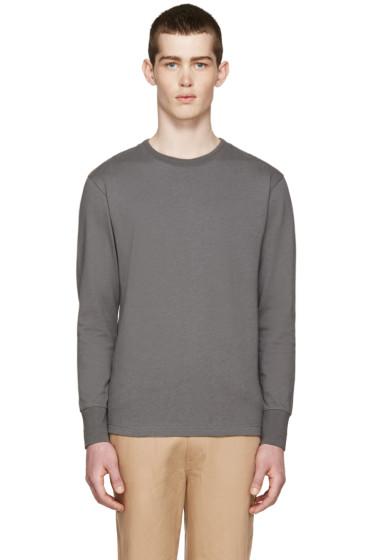 Nigel Cabourn - Grey Long Sleeve T-Shirt