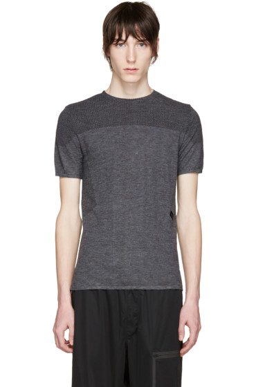 Y-3 SPORT - Grey Merino Jersey T-Shirt
