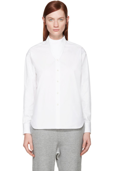 Hyke - White Triangle Collar Shirt