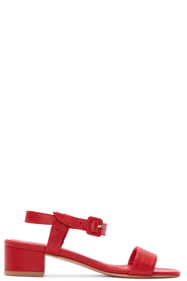 Maryam Nassir Zadeh - Red Leather Sophie Sandals