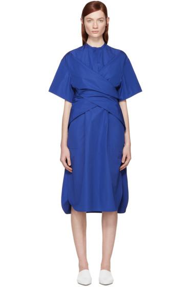 Ports 1961 - Blue Wrapped Shirt Dress