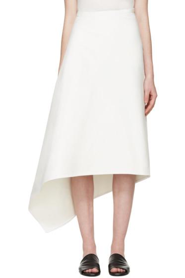 Ports 1961 - White Twill Asymmetric Skirt