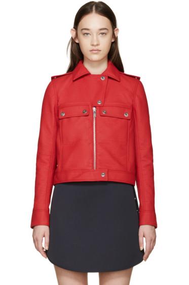 Courrèges - Red Faux-Leather Jacket