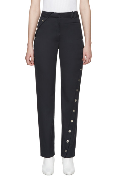 Courrèges - Navy Twisted Button Trousers