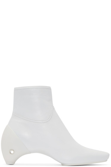 Courrèges - White Leather Gogo Boots
