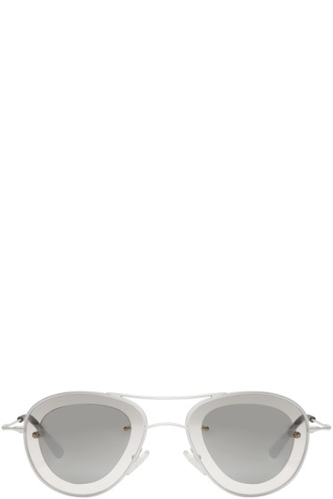 Haal - Silver Jodie Aviator Sunglasses