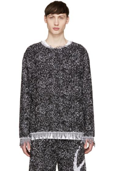 Haal - Black & Purple Gisele Towelling Sweater