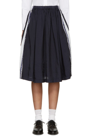Tricot Comme des Garçons - Navy Side Stripe Skirt