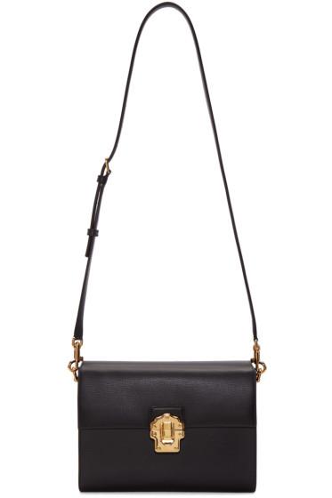 Dolce & Gabbana - Black Iguana-Embossed Lucia Shoulder Bag