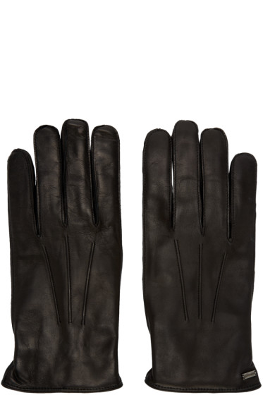 Dolce & Gabbana - Black Lambskin Gloves