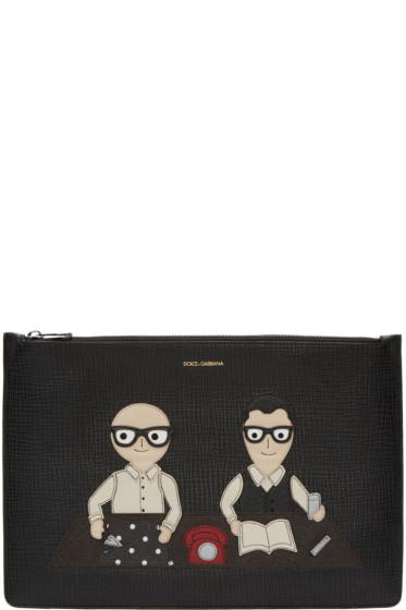 Dolce & Gabbana - Black Designers Document Holder