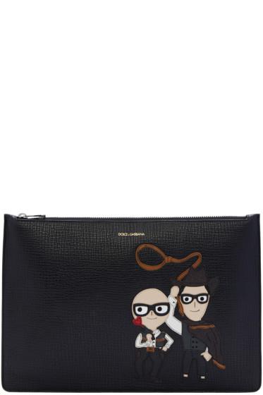 Dolce & Gabbana - Black Designer & Cowboy Zip Pouch