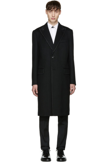 Dolce & Gabbana - Black Topstitched Coat