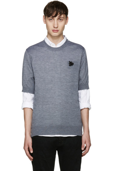Dolce & Gabbana - Grey Cashmere Bee Pullover