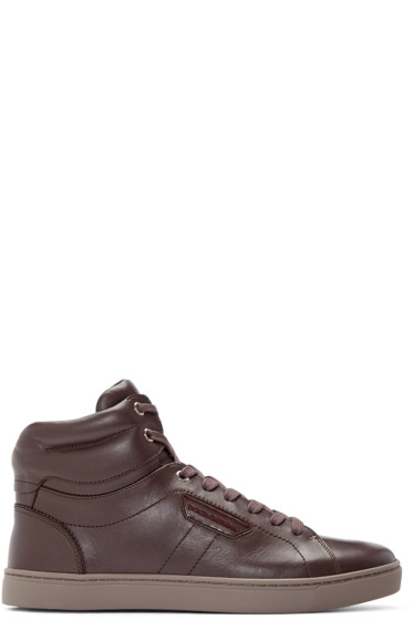 Dolce & Gabbana - Purple High-Top Sneakers