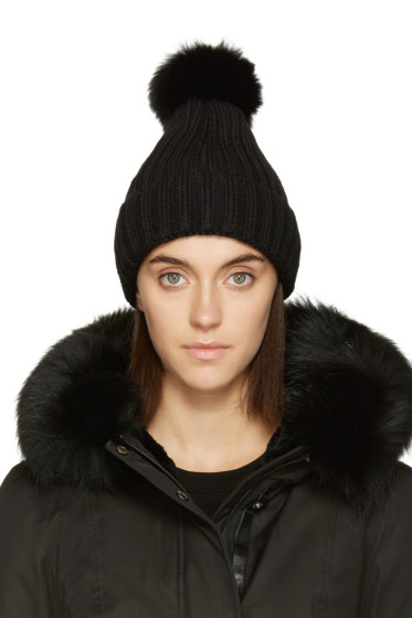 Mackage - Black Fur Mac Beanie