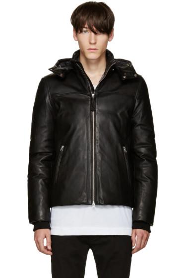 Mackage - Black Leather Balfour Down Jacket