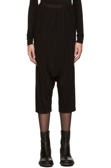 Rick Owens Lilies - Black Jersey Sarouel Shorts