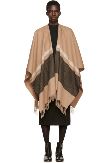 Rag & Bone - Brown Striped Varsity Scarf