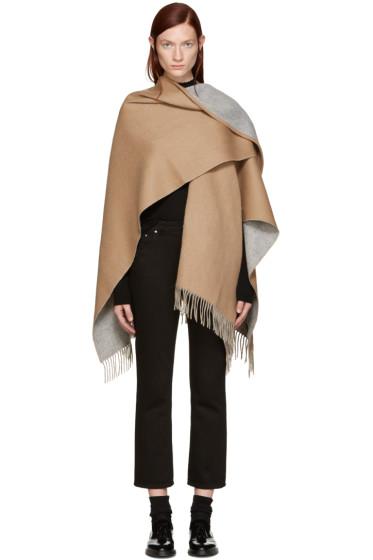 Rag & Bone - Camel Wool Wrap Scarf