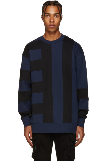 Diesel Black Gold - Blue & Black Bonded Pullover