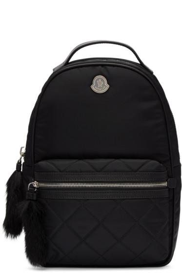 Moncler - Black Georgette Backpack