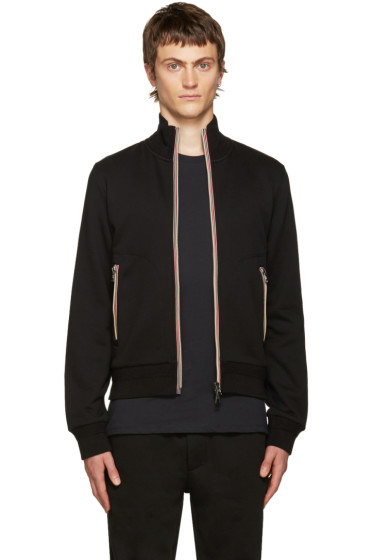 Moncler - Black Zip-Up Maglia Sweater