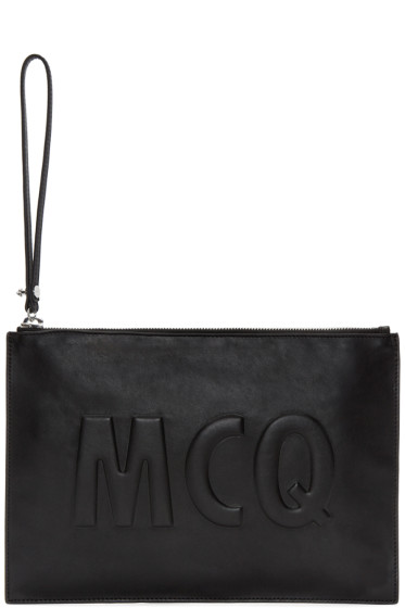 McQ Alexander Mcqueen - Black Leather Logo Pouch