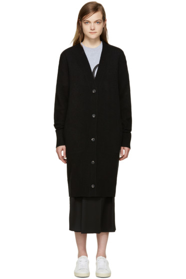 McQ Alexander Mcqueen - Black Wool Long Cardigan