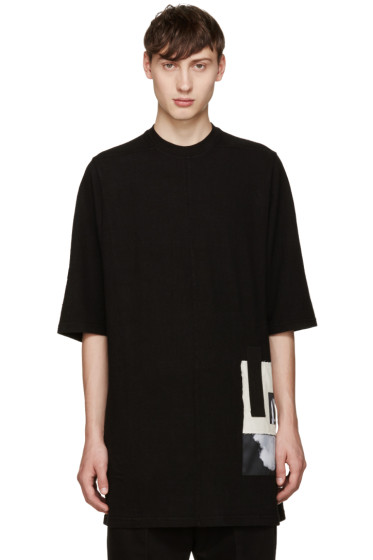 Rick Owens Drkshdw - Black Jumbo Patches T-Shirt