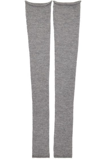 Acne Studios - Grey Long Jill Leg Warmers