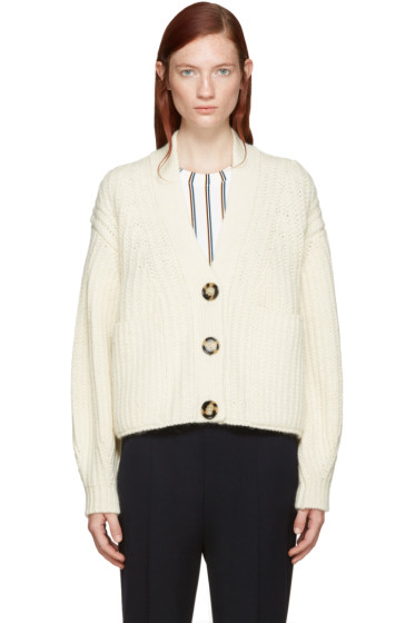 Acne Studios - Off-White Wool Hadlee Cardigan